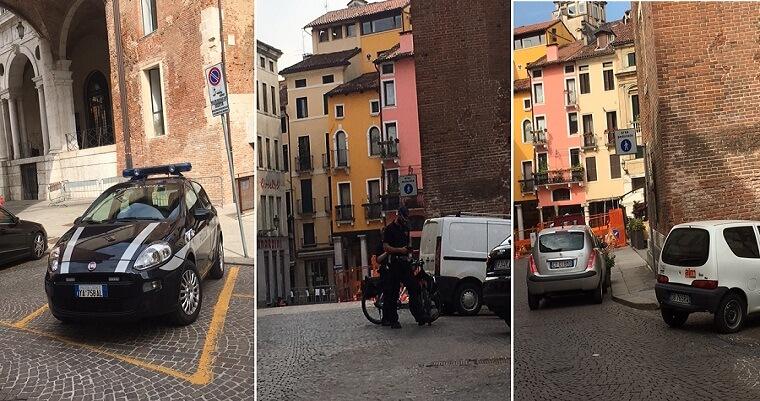 """VICENZA – Residenti contro vigili in Piazza Erbe: """"Abusi nei nostri confronti!"""""""