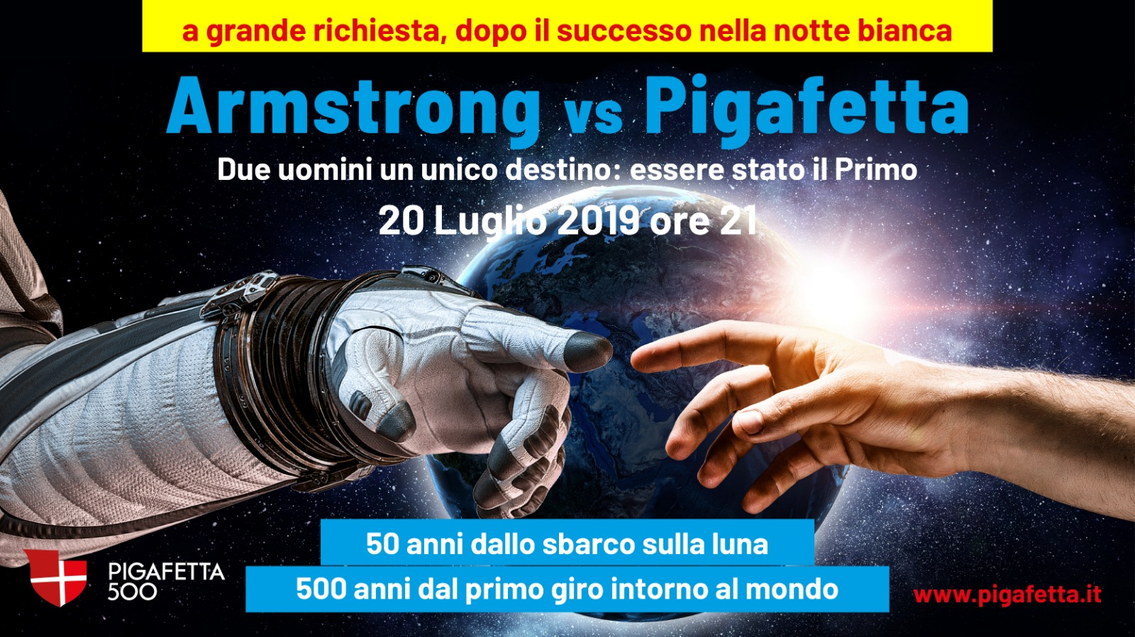 Armstrong vs Pigafetta, due uomini un unico destino | TViWeb